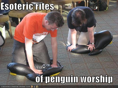 Esoteric rites of penguin worship LOLZ