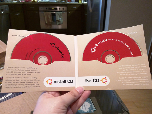 Back then there was an install CD and a live CD for Ubuntu 5.04