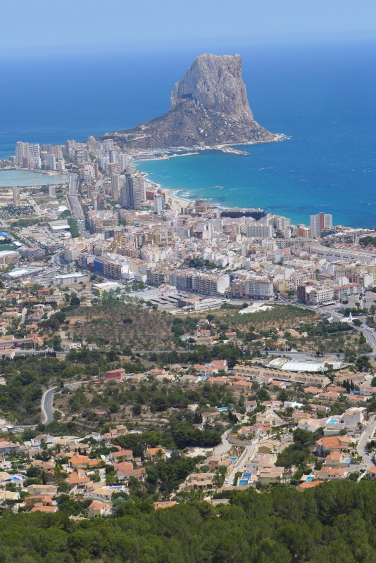 Calpe from high above the town