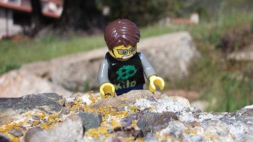 Lego man climbing