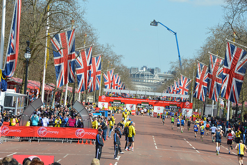 Finish Line at the London Marathon