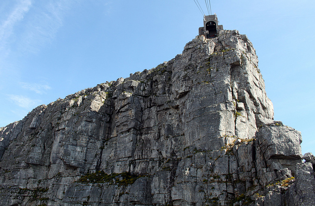 Table Mountain Cable car top station and Africa Wall