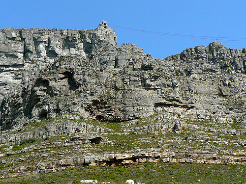 Table Mountain view from the left facing up
