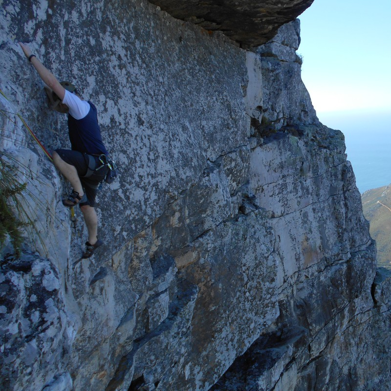 Climbing Table Mountain - big step!